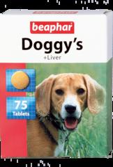 Beaphar Doggy's витамины для взрослых собак всех пород со вкусом печени 75 таб.