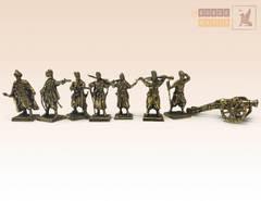 Набор солдатиков Запорожские Казаки 17 век (7 шт.) с пушкой