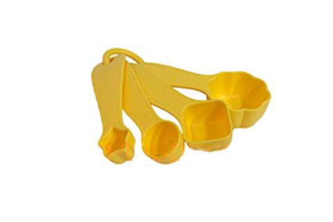 Мерные ложечки, 4шт. в желтом цвете
