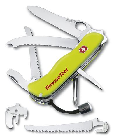 Нож Victorinox Rescue Tool One Hand, 111 мм, 14 функций, желтый