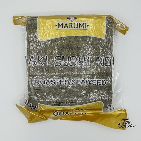 Водоросли морские жареные Нори 100 лист MARUMI GOLD, 280 гр