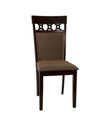 Стул 8187 Cappuccino деревянный с мягким сиденьем темный орех