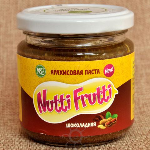 Арахисовая паста Шоколадная Нутти-Фрутти, 180г