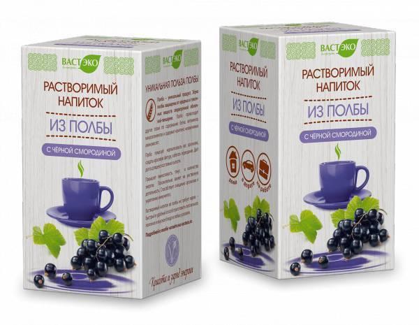 Растворимый напиток из ПОЛБЫ, Вастэко, с черной смородиной 200 г.