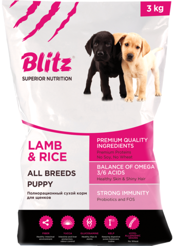 Сухой корм Blitz Puppy Lamb & Rice
