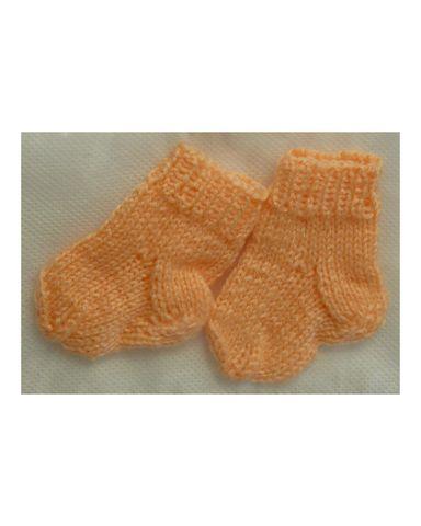 Носки - Оранжевый. Одежда для кукол, пупсов и мягких игрушек.