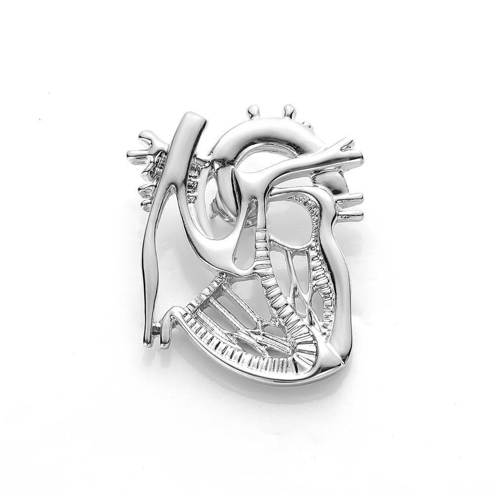 Брошь Сердце (серебряный цвет)