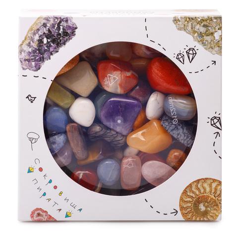 Набор самоцветов Сокровища Пирата N1, 12х12х4 см, 500 г