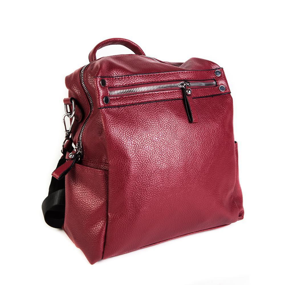 Женский средний рюкзак 29х32х12 см красный 4096-2-3
