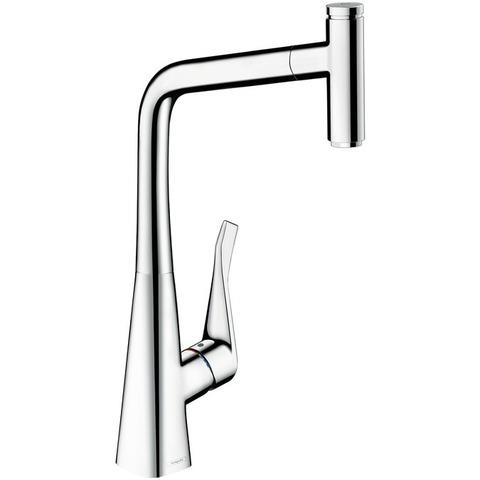 Смеситель для кухни 320, однорычажный, с выдвижным душем Hansgrohe Metris Select 14884000