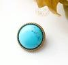 Кабошон круглый Говлит (искусств) (тониров) 18 мм (Брошь голубая. Пример)