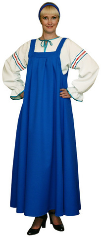 Русский народный костюм голубой