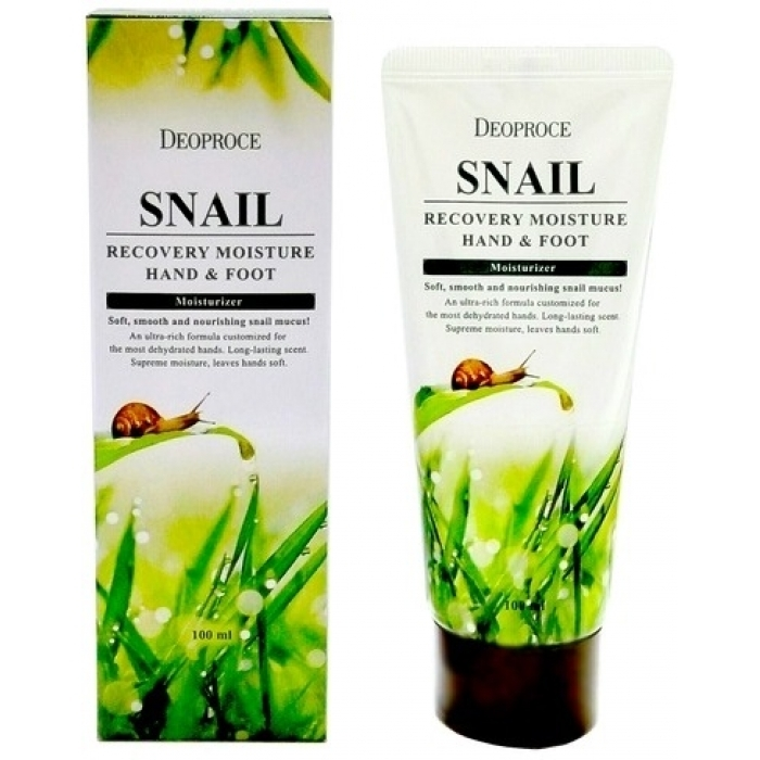 DEOPROCE Крем для рук и ног Snail Recovery Moisture Hand & Foot