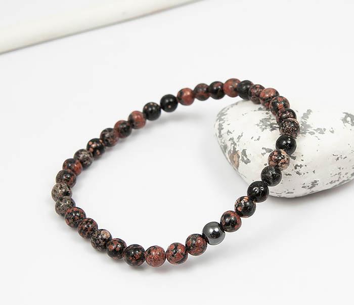 Boroda Design, Мужской браслет из натурального камня яшмы, ручная работа