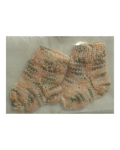 Носки - Меланж бежевый. Одежда для кукол, пупсов и мягких игрушек.