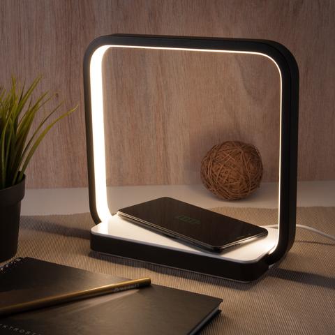 Светодиодная настольная лампа с беспроводной зарядкой QI 80502/1 черный