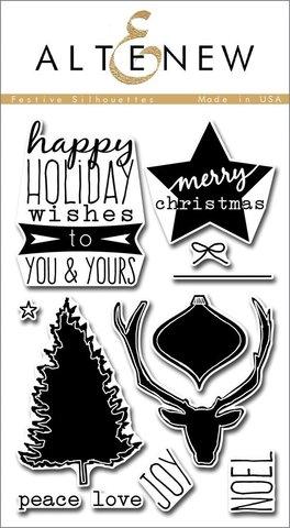 Набор штампов Festive Silhouettes Stamp Set