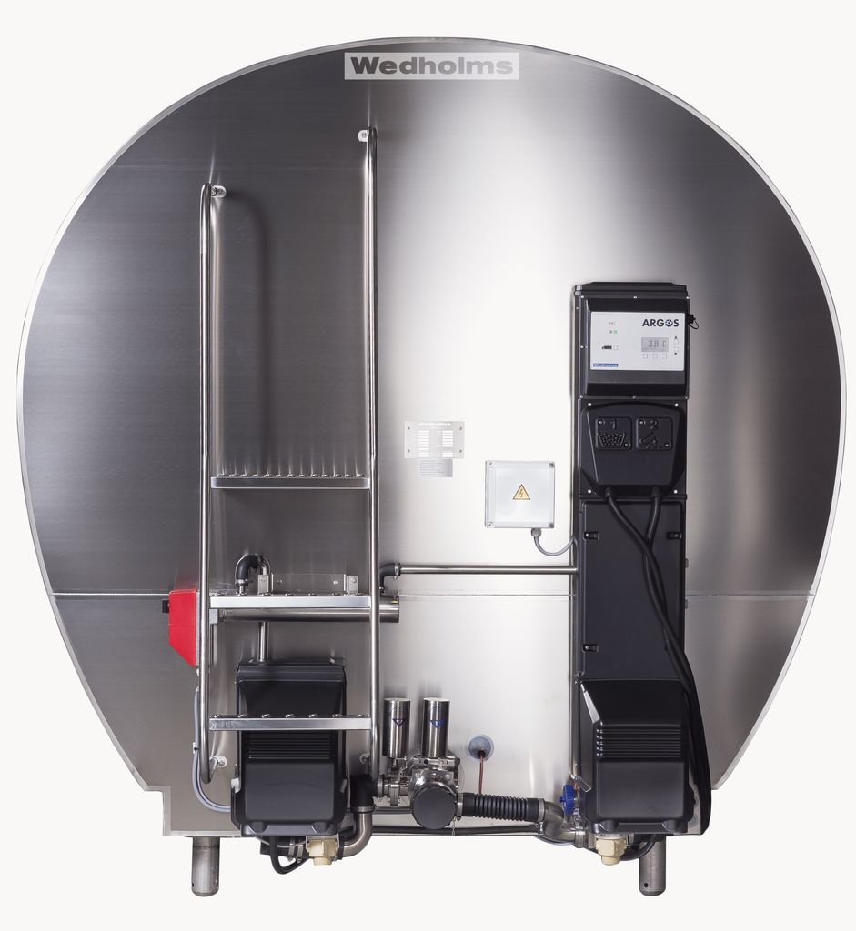 7000 литров | Передняя сторона танка охладителя молока Ведхолмс АБ