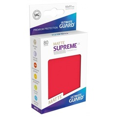 Ultimate Guard - Красные матовые протекторы 80 штук в коробочке