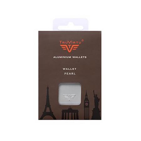 Визитница c защитой Tru Virtu PEARL, цвет черный , 104*67*17 мм