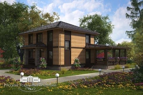 """Проект двухэтажного дома """"Марсель"""" 154 кв.м. с террасой"""