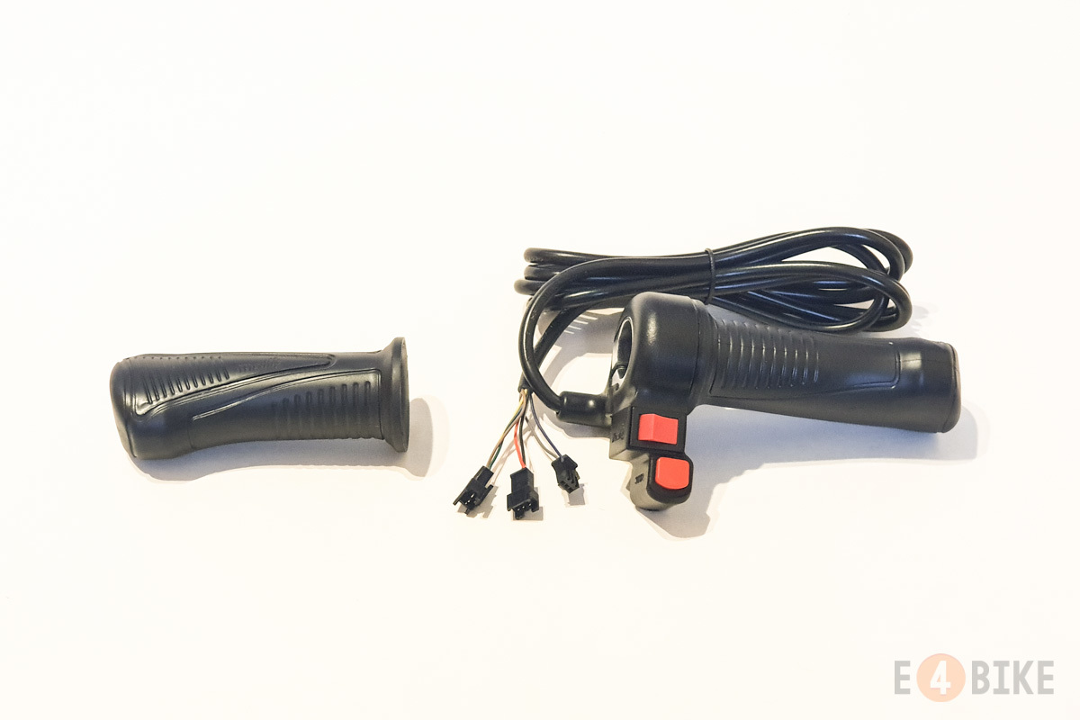 Ручка газа (под кисть) - Полная с переключателем