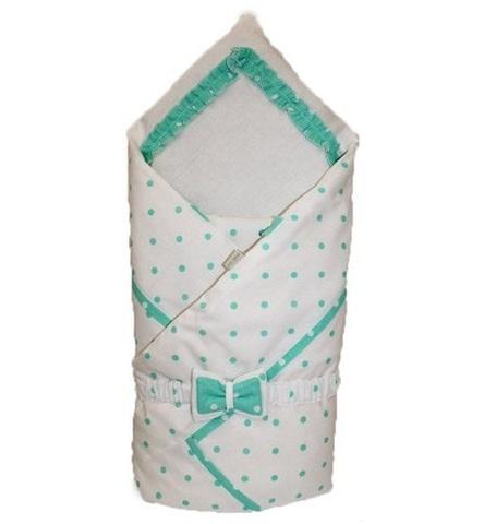 Зимний конверт на выписку для новорожденных Рандеву мята