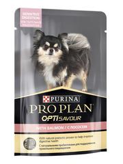 Purina Pro Plan SENSITIVE пауч для собак с чувствительным пищеварением с лососем 100 г 1 шт