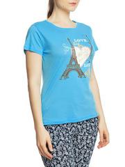 8526-4 футболка женская, голубая