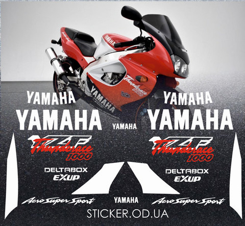 Набор виниловых наклеек на мотоцикл YAMAHA YZF 1000R 1997