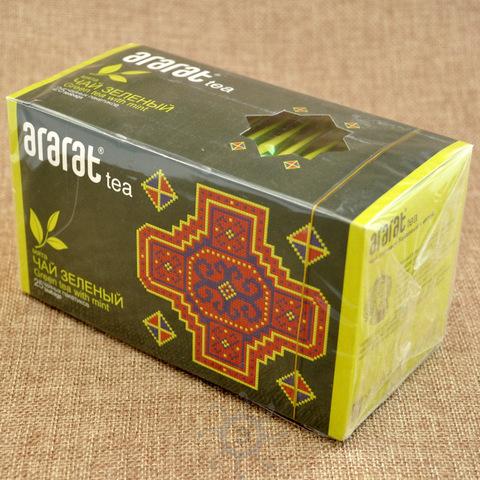 Чай зеленый с мятой Арарат, в пакетиках 25х1,5г