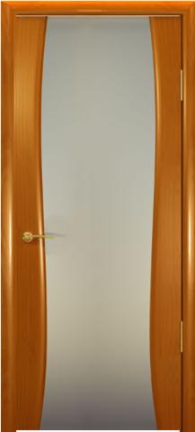 Дверь Океан Буревестник-2, стекло белое, цвет анегри, остекленная