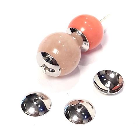 Шапочка круглая родированная 8 мм цвет платина