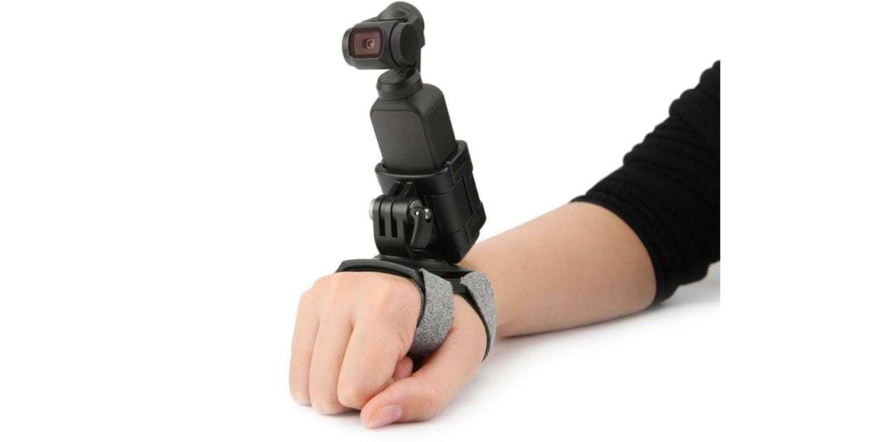 Крепление на руку PGYTECH Action Camera Hand and Wrist Strap P-18C-024 с камерой