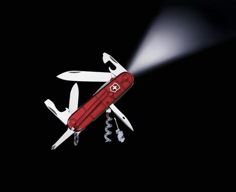 Нож Victorinox Spartan, 91 мм, 15 функции, полупрозрачный красный