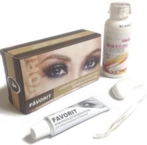 Farmavita Favorit - Набор для окрашивания бровей и ресниц