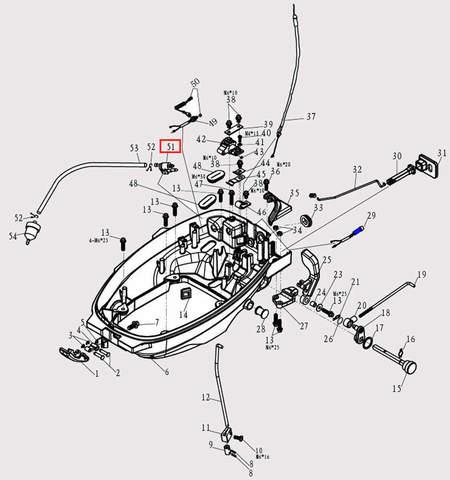 Коннектор топливный для лодочного мотора F9.8 Sea-PRO (2-51)
