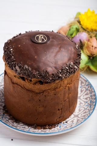 Панетоне шоколадний з праліне