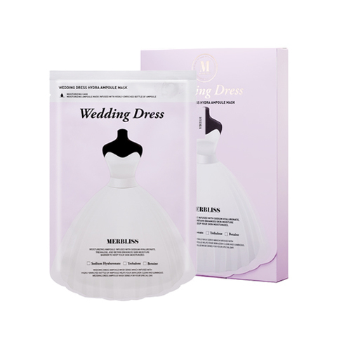 Маска MERBLISS Wedding Dress Hydra Ampoule Mask 5ea 5 шт.