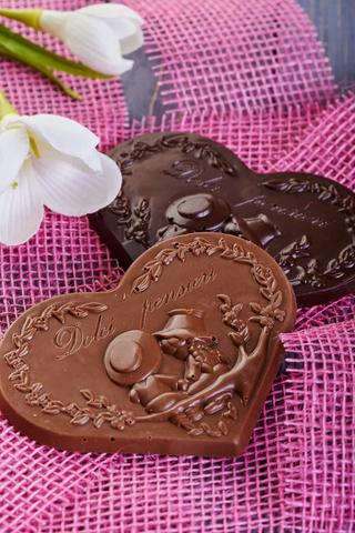 Шоколадное сердце (темный шоколад)