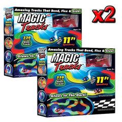 Два набора по 220 дет. Гибкая светящаяся трасса Magic Track