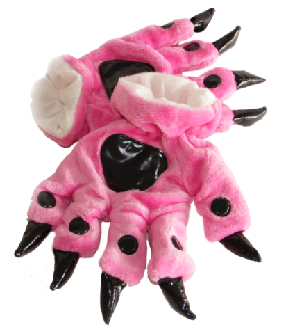 Перчатки кигуруми розовые