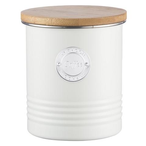 Емкость для хранения кофе Living белая 1 л