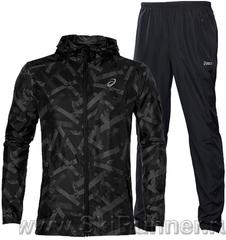 Ветрозащитный костюм для бега Asics Fuzex Packable 2017 Woven black мужской