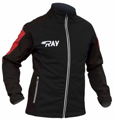 Лыжная разминочная куртка Ray Pro Race WS Black-Red мужская