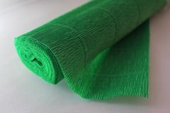 Бумага гофрированная простая зеленый (563), 50 см./250 см.