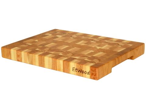 деревянная Торцевая разделочная доска 40х30х4 см гледичия
