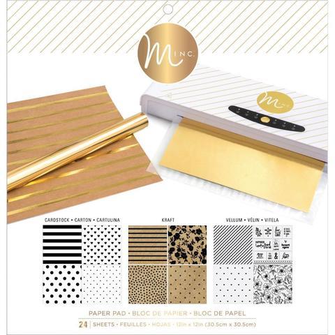 Набор бумаги 30х30см. для фольгирования-  Heidi Swapp Minc Reactive Paper Pad -24л, Multicolor