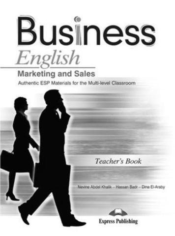 BUSINESS ENGLISH MARKETING AND SALES  Teacher's Book - книга для учителя