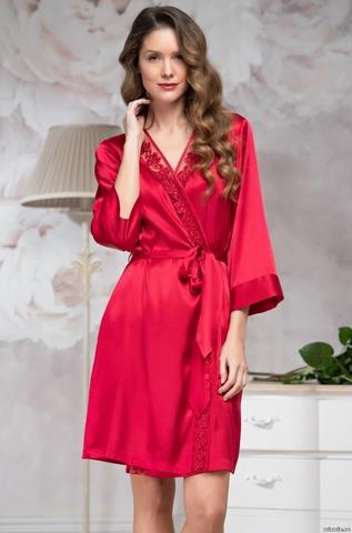 Халатик  женский шелковый на запах  Mia-Amore MARISIA МАРИСИЯ 8583 красный